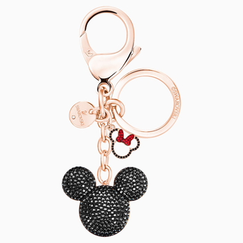 Mickey Bag Charm, Black, Mixed Plating