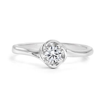 Rose Diamond Solitaire Engagement Ring