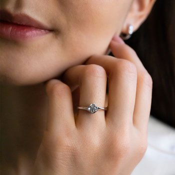 Classic Diamond Solitaire Engagement Ring