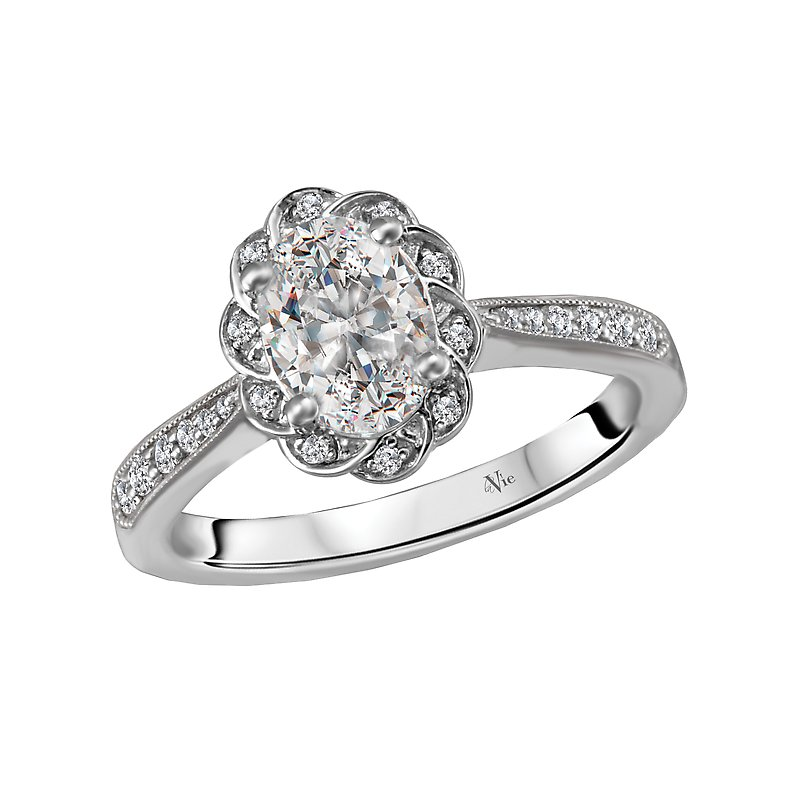 LaVie Halo Semi-Mount Diamond Ring