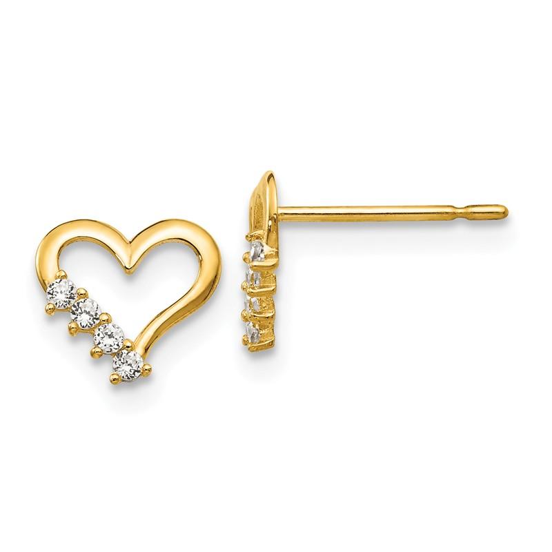 14K Madi K Heart Post Earrings