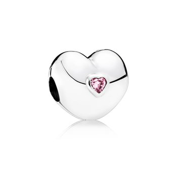 Steady Heart, Pink CZ