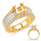 S. Kashi & Sons Bridal Yellow Gold Enagement Ring