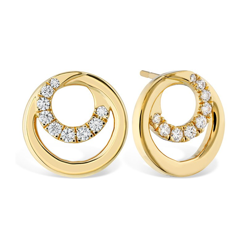 Hearts on Fire 0.39 ctw. Optima Circle Earrings
