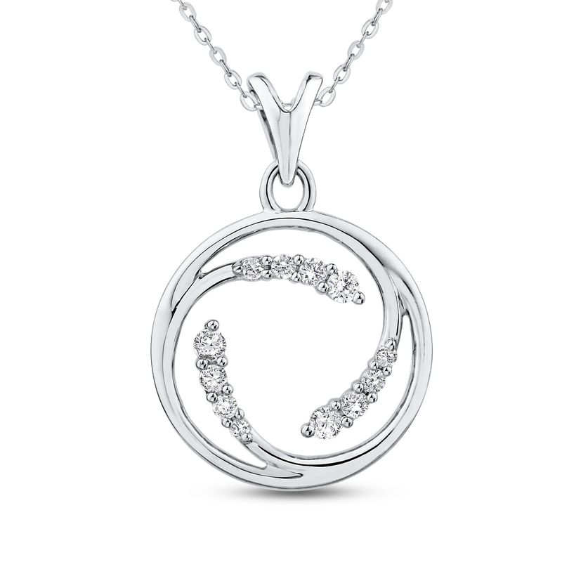 1/4 ct Round White Diamond Fashion Pendant with Chain