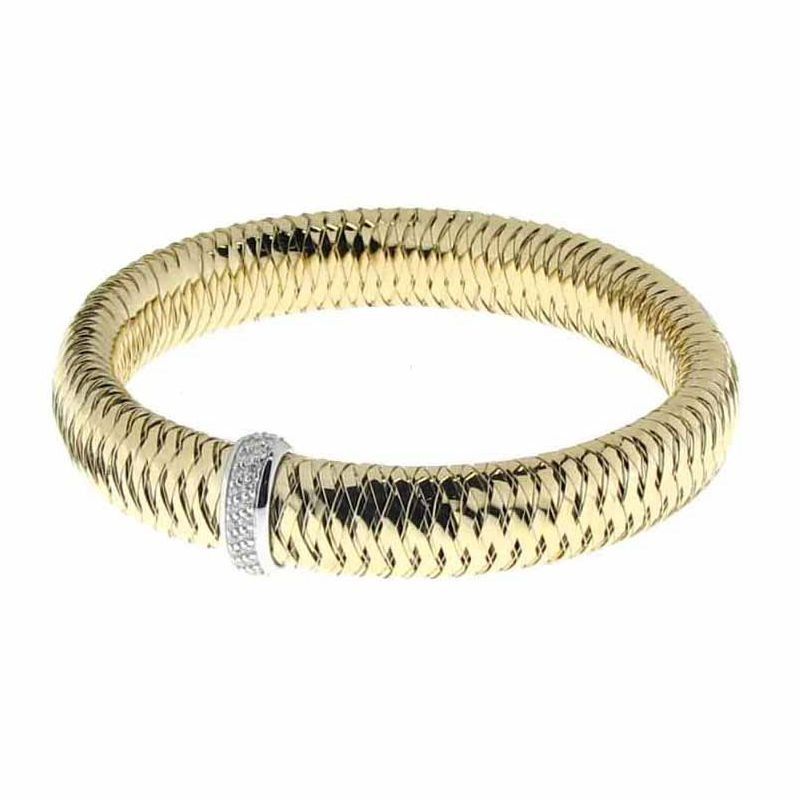 Roberto Coin 18KT GOLD FLEXIBLE BANGLE WITH DIAMONDS