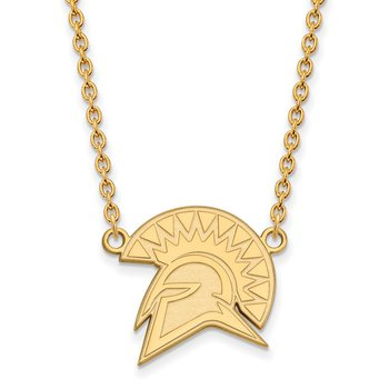 Gold-Plated Sterling Silver San Jose State University NCAA Necklace