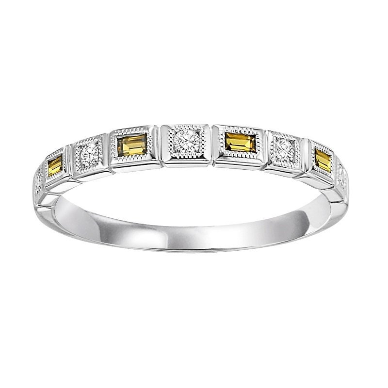Mixables 14K Citrine & Diamond Mixable Ring