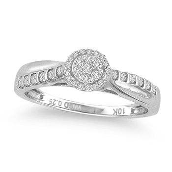 10K 0.25Ct Diamond Ring