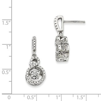 Sterling Silver & Vibrant CZ Brilliant Embers Infinity Earrings