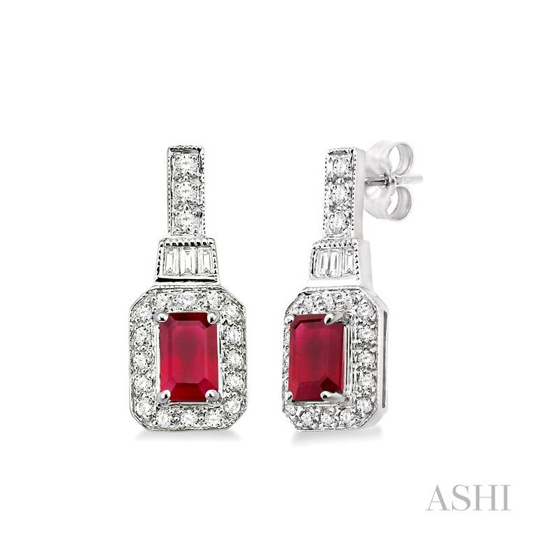 Crocker's Collection gemstone & diamond earrings