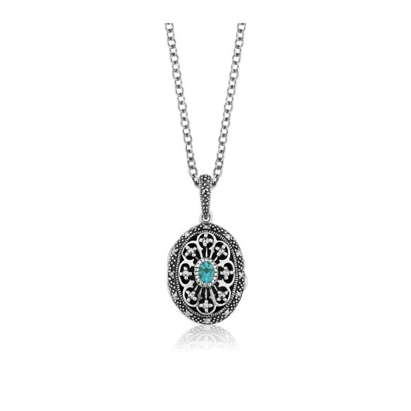 LARUS Jewelry Vintage Locket Pendant