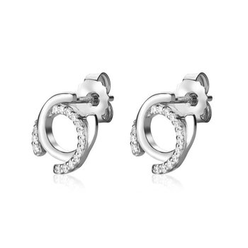 Silver CC earrings