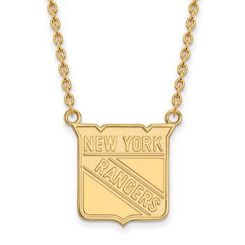 Gold New York Rangers NHL Necklace