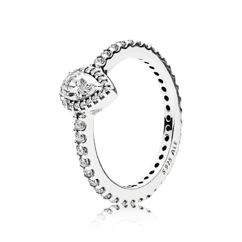 Pandora Radiant Teardrop, Clear Cz