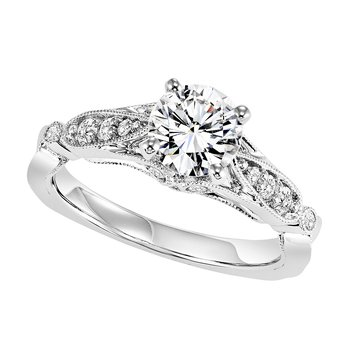14K Diamond Engagement Ring 1/5 ctw