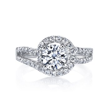 MARS 25595 Diamond Engagament Ring 0.73 Ctw.