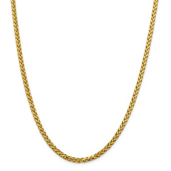 14k 3.7mm Semi-solid D/C Wheat Chain