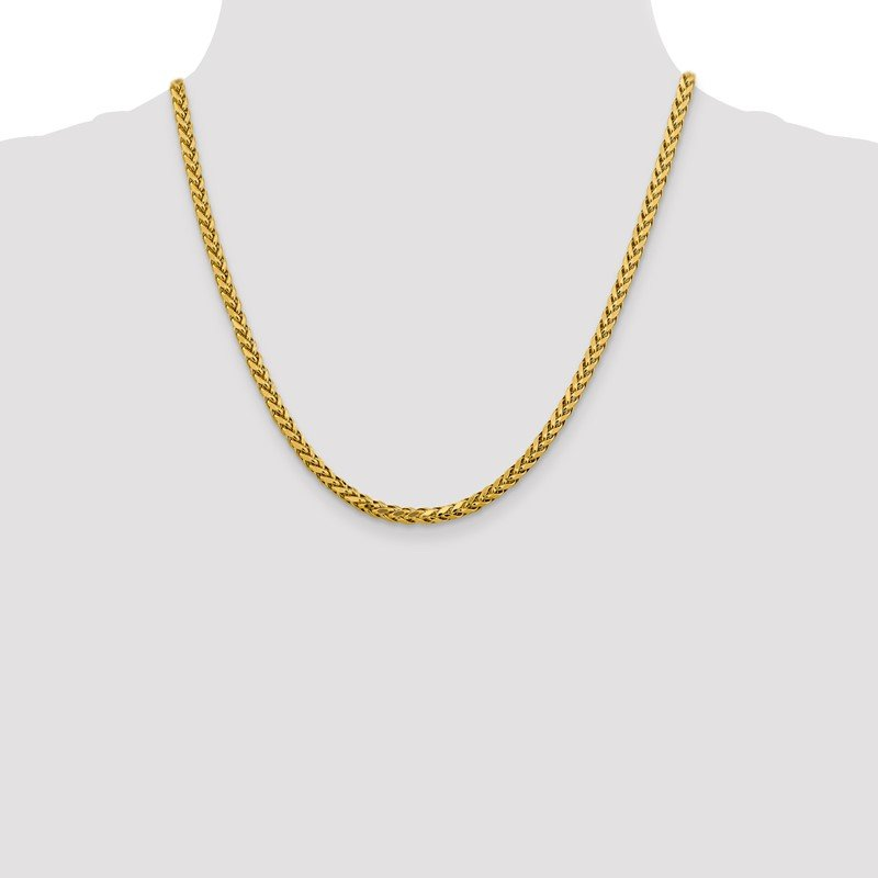 Quality Gold 14k 3.7mm Semi-solid D/C Wheat Chain