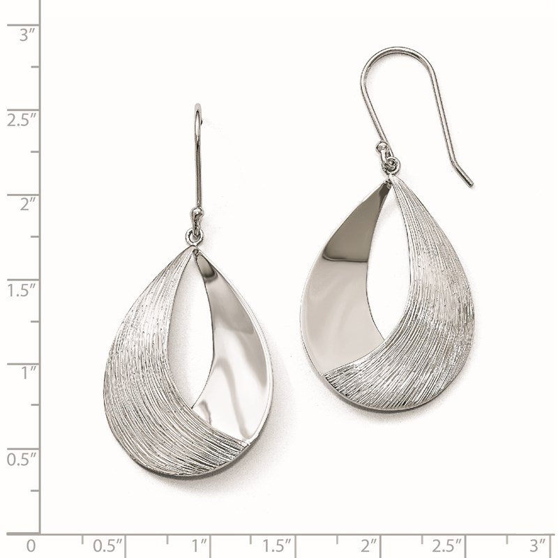 Leslie's Leslie's Sterling Silver Polished and Textured Dangle Earrings