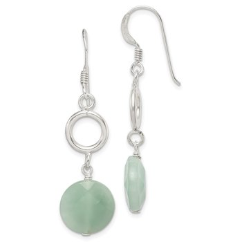 Sterling Silver Amazonite Dangle Earrings