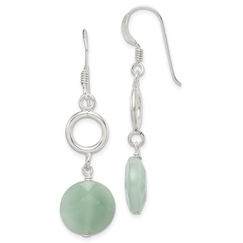 Quality Gold Sterling Silver Amazonite Dangle Earrings