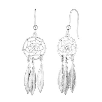 Silver Dream Catcher Earring