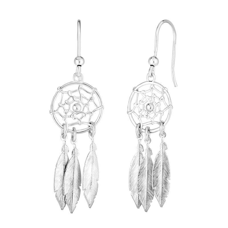 Royal Chain Silver Dream Catcher Earring