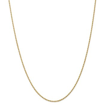 Leslie's 14K 1.8mm Solid Regular Rope Chain Anklet