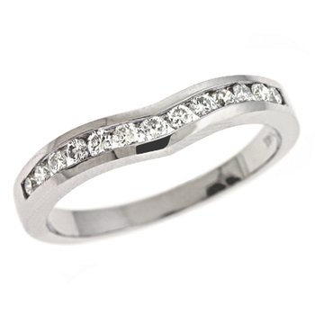 Curved White Gold Band