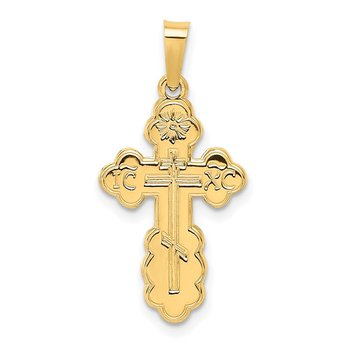 14k Eastern Orthodox Cross Charm