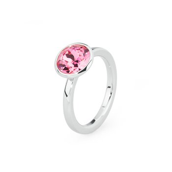 316L stainless steel and rose Swarovski® Elements
