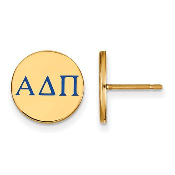 Gold-Plated Sterling Silver Alpha Delta Pi Greek Life Earrings
