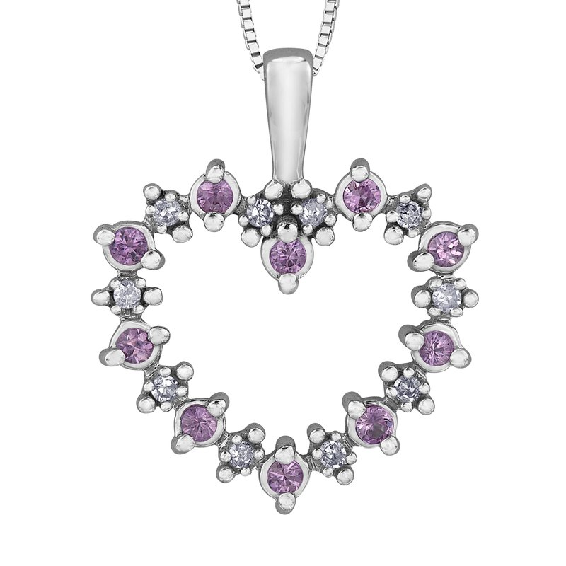 Forever Jewellery Pink Sapphire Pendant