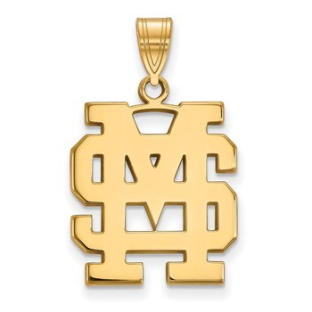 Gold-Plated Sterling Silver Mississippi State University NCAA Pendant