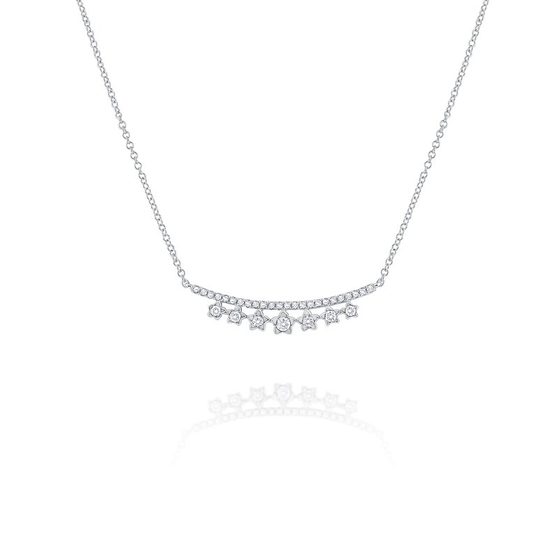 KC Designs Diamond Star Curve Necklace Set in 14 Kt. Gold