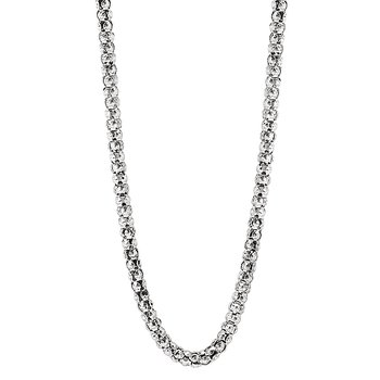 S.S. ITALIAN OXIDIZED POPCORN CHAIN 3MM 24