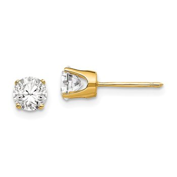 14k 5mm CZ stud earrings