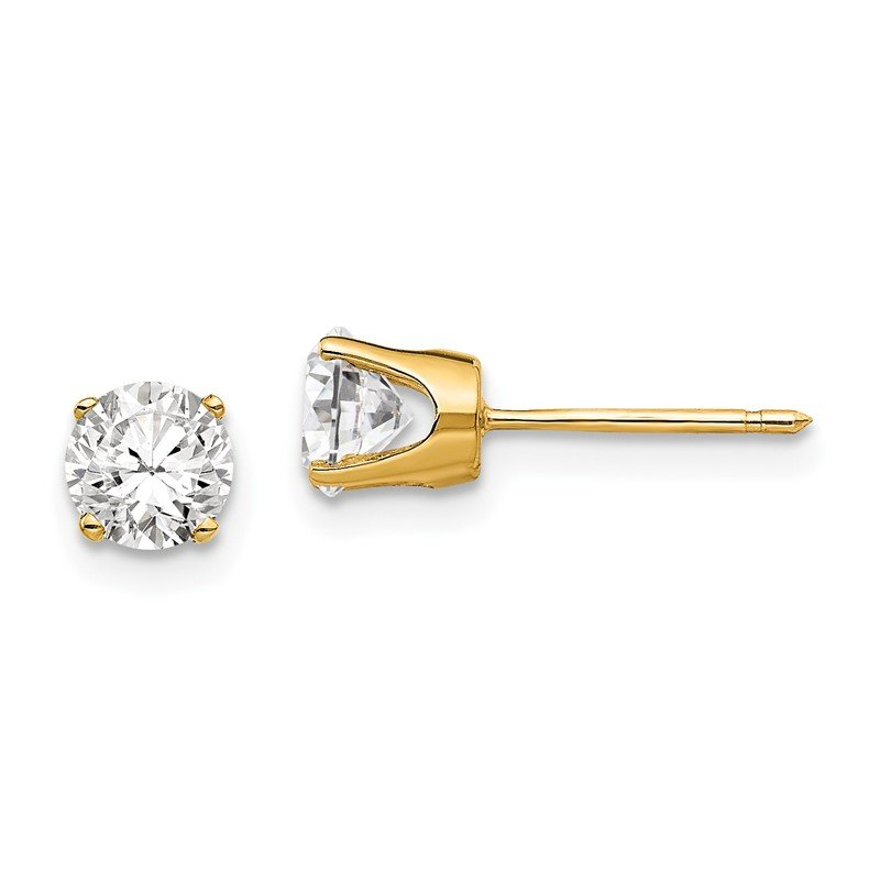 J.F. Kruse Signature Collection 14k 5mm CZ stud earrings
