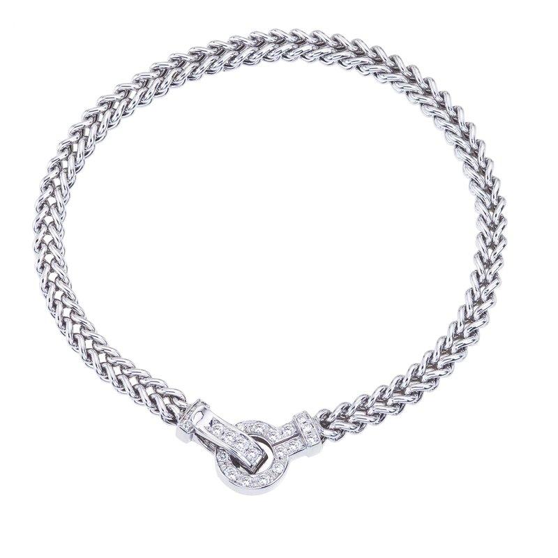 Dcor Interiors and Jewelry DA Gold White Gold Braided Bracelet