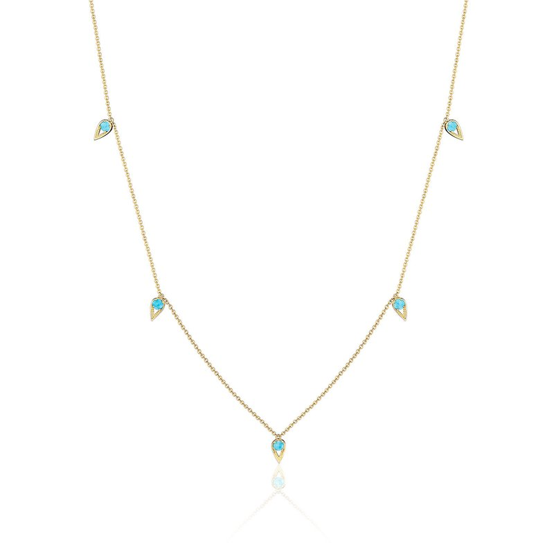 Tacori Fashion 5-Station Open Crescent Necklace with Turquoise