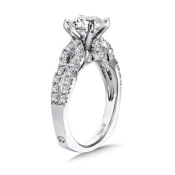 Luxury Collection Split Shank Diamond Engagement Ring in 14K White Gold with Platinum Head (1-1/2ct. tw.)