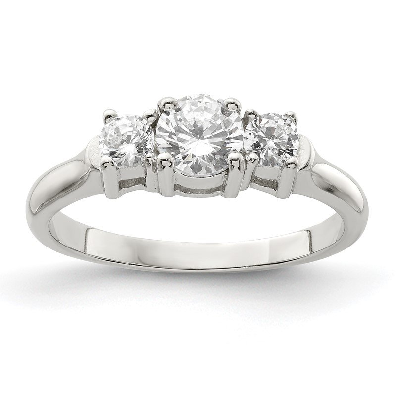 JC Sipe Essentials Sterling Silver CZ Ring