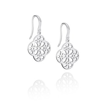 Quatrefoil Lace Drop Earring