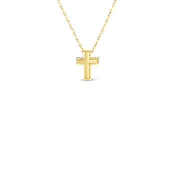 18KT GOLD SMALL PRINCESS CROSS PENDANT