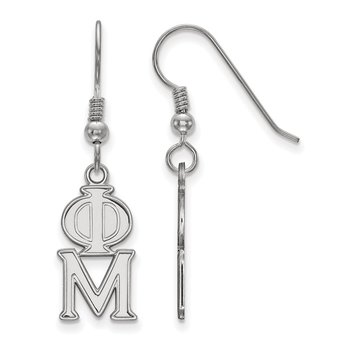 Sterling Silver Phi Mu Greek Life Earrings