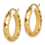 J.F. Kruse Signature Collection 14k Diamond-cut Hoop Earrings