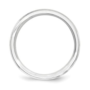 SS 6mm Polished Fancy Band Size 10