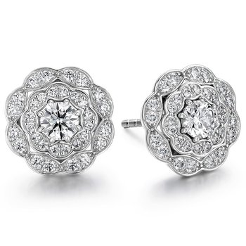 0.7 ctw. Lorelei Double Halo Diamond Stud Earrings