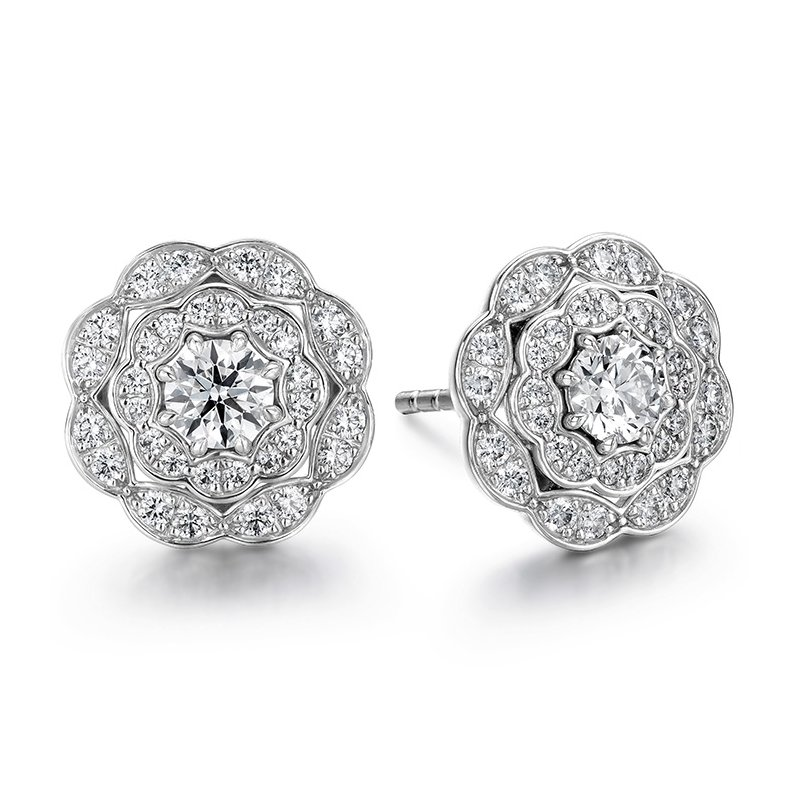 Hearts on Fire 0.7 ctw. Lorelei Double Halo Diamond Stud Earrings